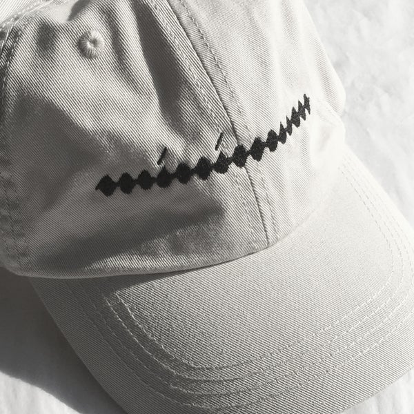 Image of Minimum Hat — black thread on stone cap