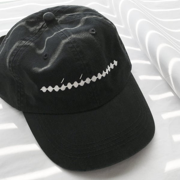 Image of Minimum Hat — white thread on black cap