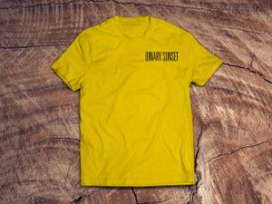 Image of Binary Sunset Guam Tee (Yellow)