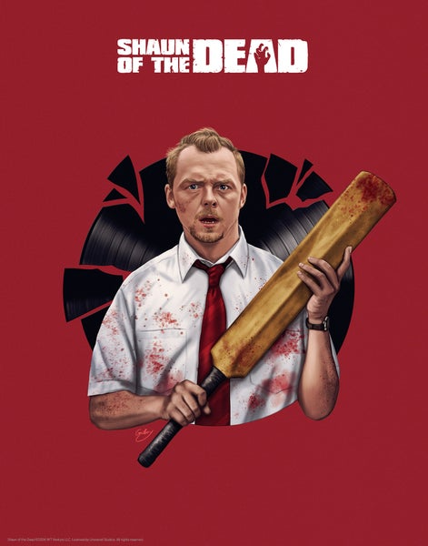 "Image of Simon Pegg/Shaun of the Dead 11x14"" (officially licensed)"