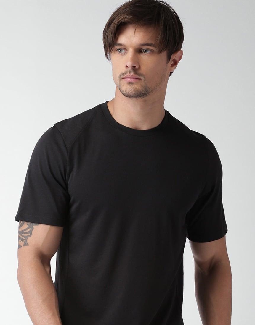 Image of Organic cotton t-shirt black size M