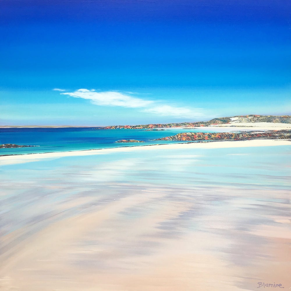 Image of Caolas wet sand Tiree LARGE print