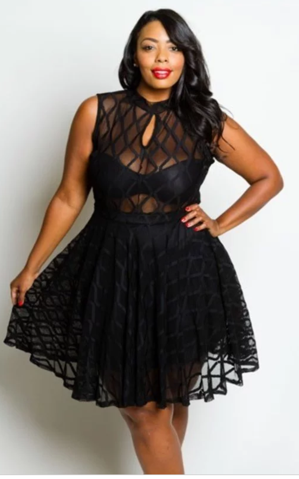 Image of Plus Size Tulle Dress