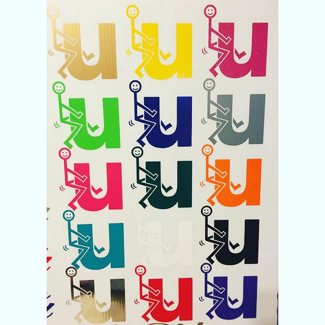 "Image of $5 ""U"" Decals"