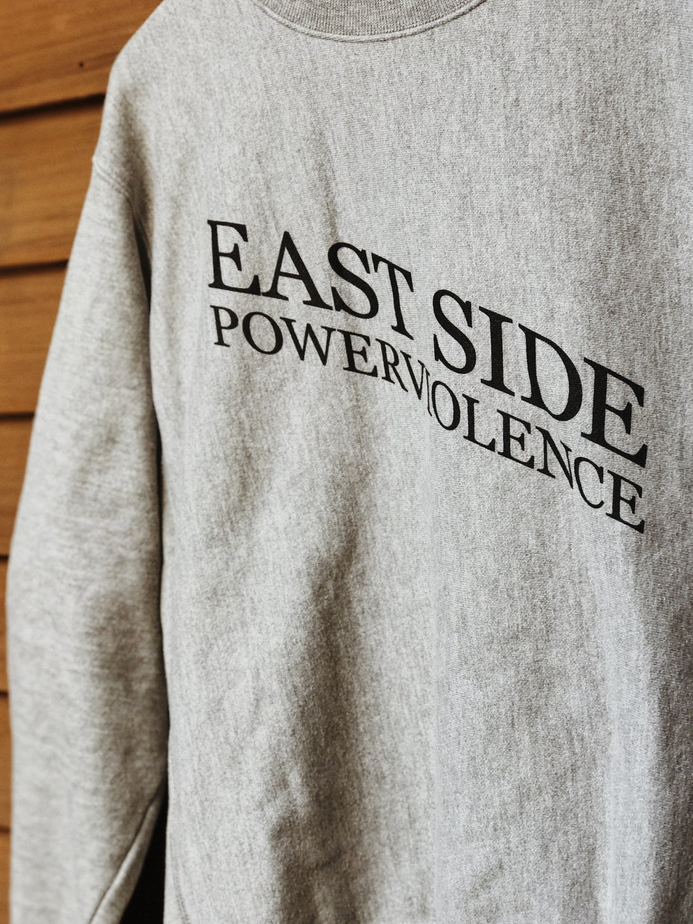 Image of East Side Powerviolence 'PSYWAR' Crewneck (Oxford Grey)
