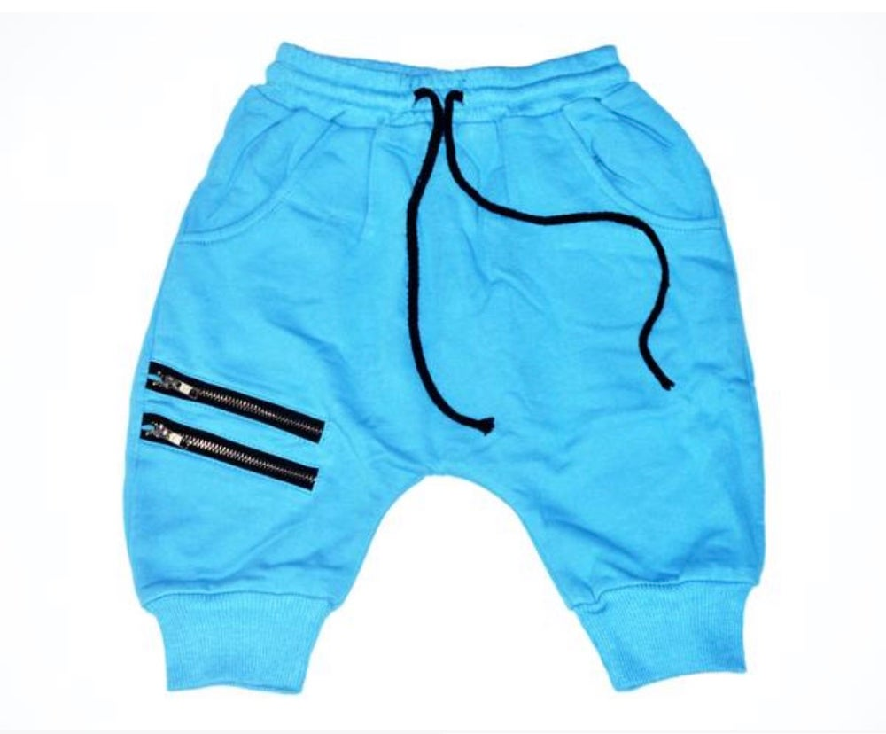 Image of Blue Zipper shorts