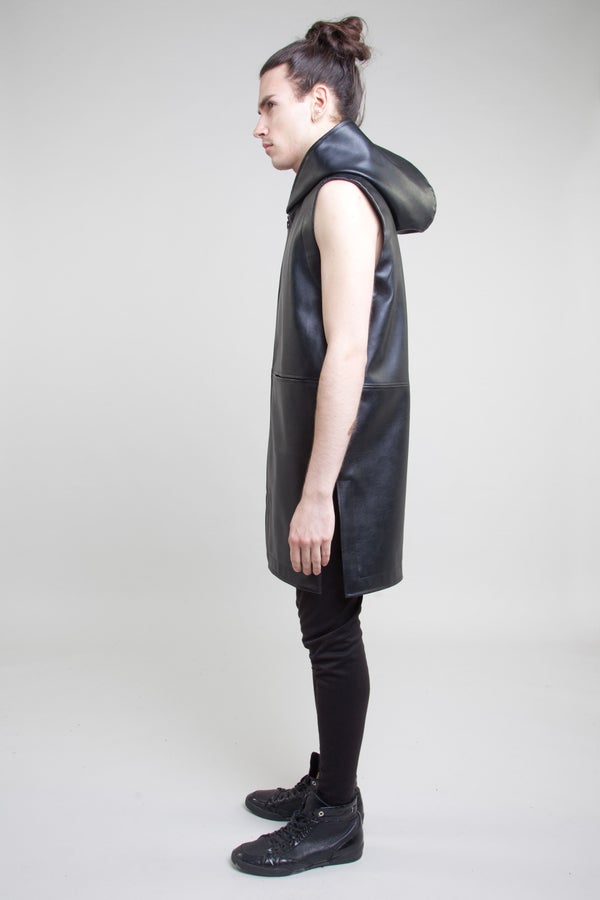 VEGAN LEATHER GILLET
