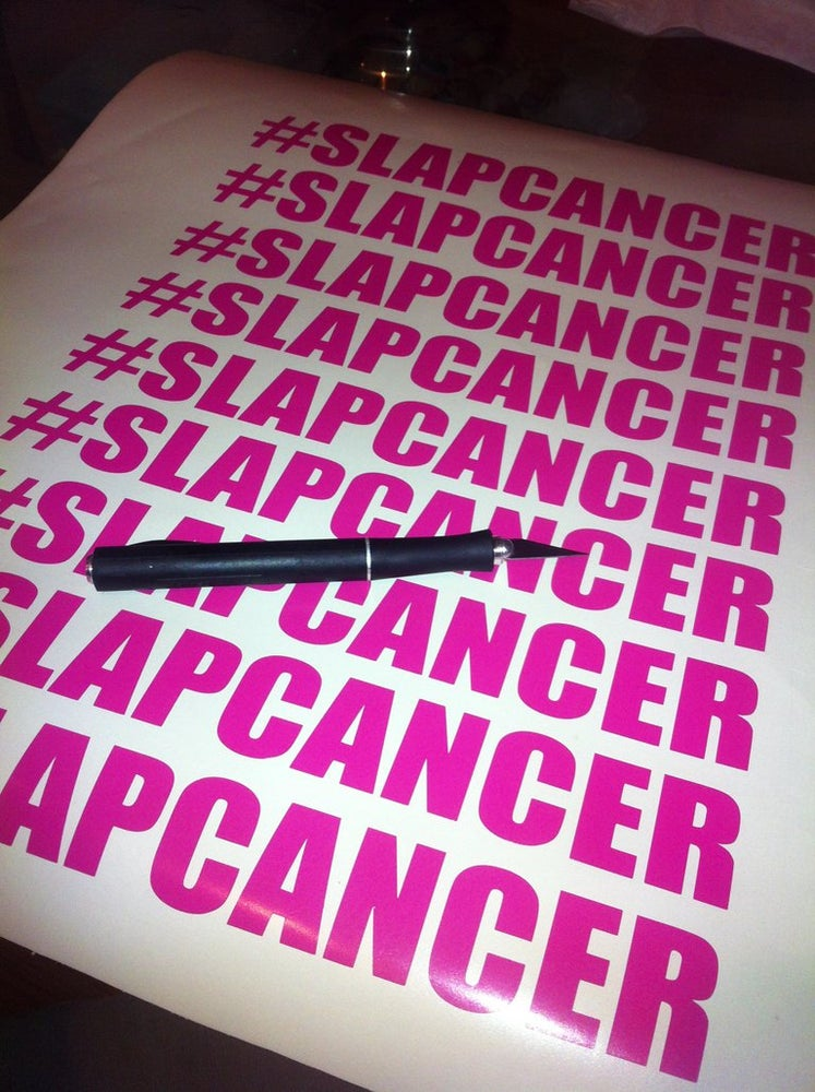 Image of #SLAPCANCER Stickers
