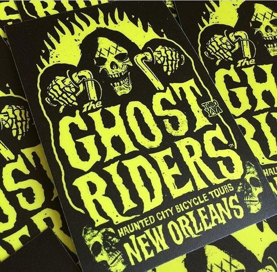 "Image of ""The Ghost Riders"" Sticker by TimboYaYa!"