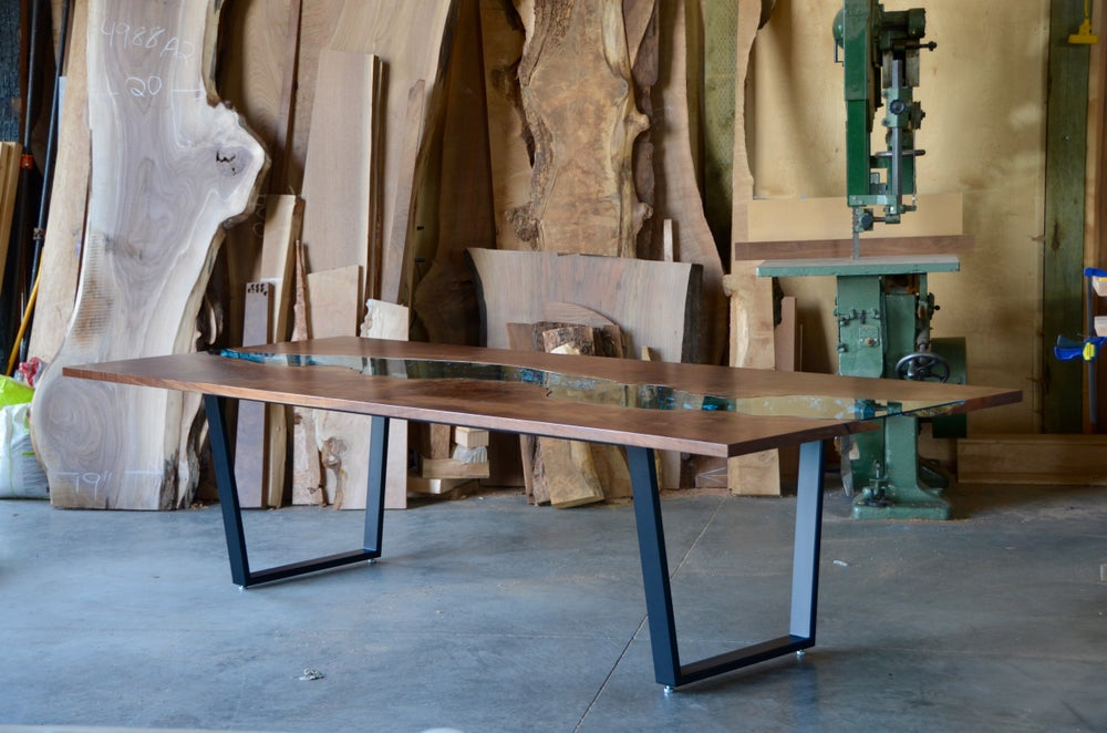 Image of *claro walnut* river® table