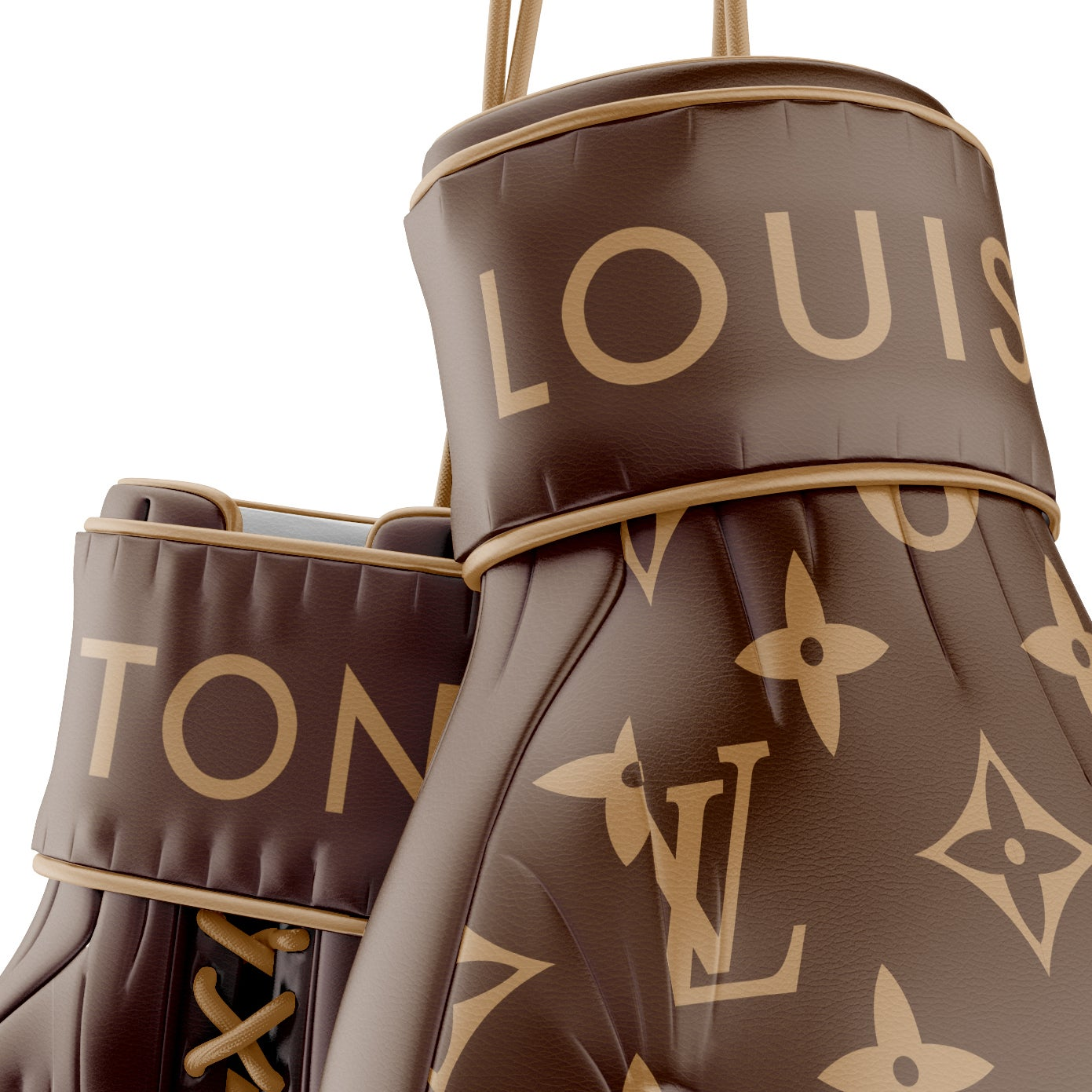 Supreme X Louis Vuitton Brown Boxing Gloves Limited Prints Shipped