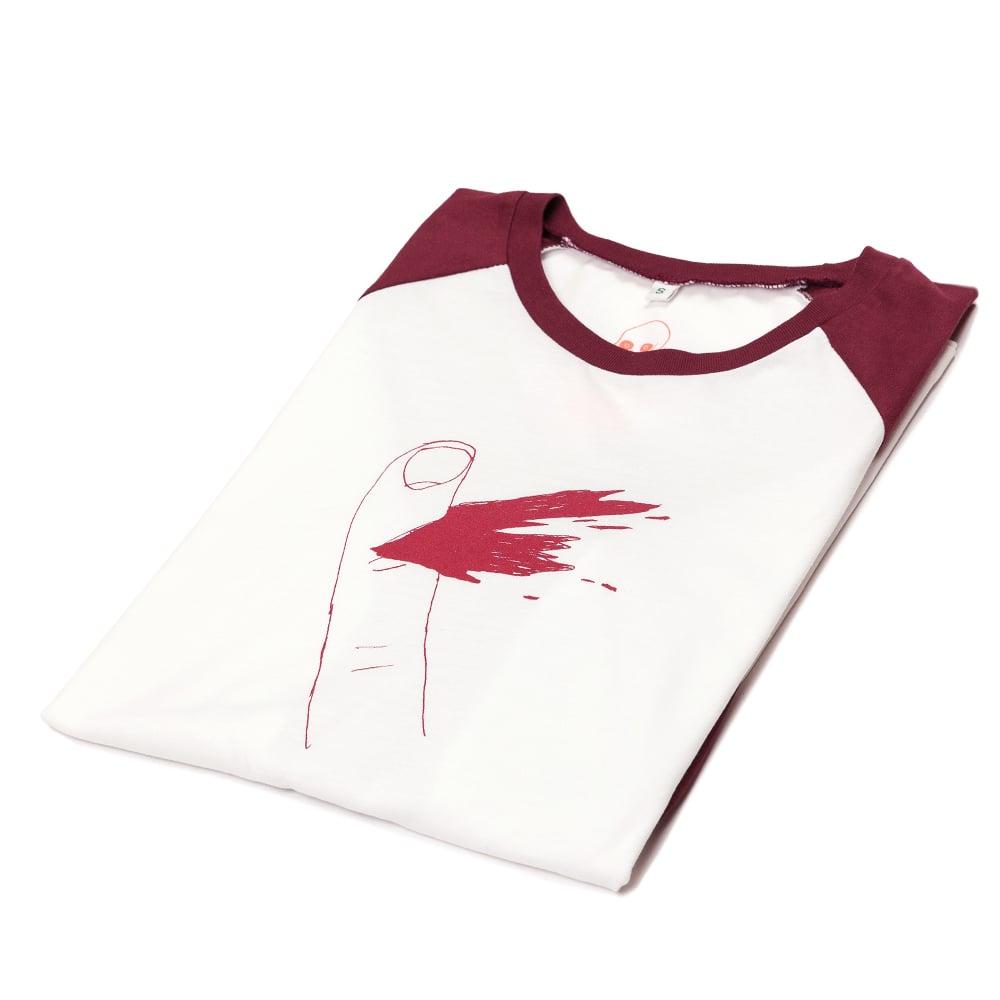Paper Cut Unisex Baseball Shirt (Organic)