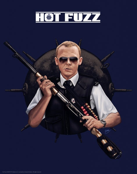 "Image of Simon Pegg/Hot Fuzz 11x14"" (officially licensed)"