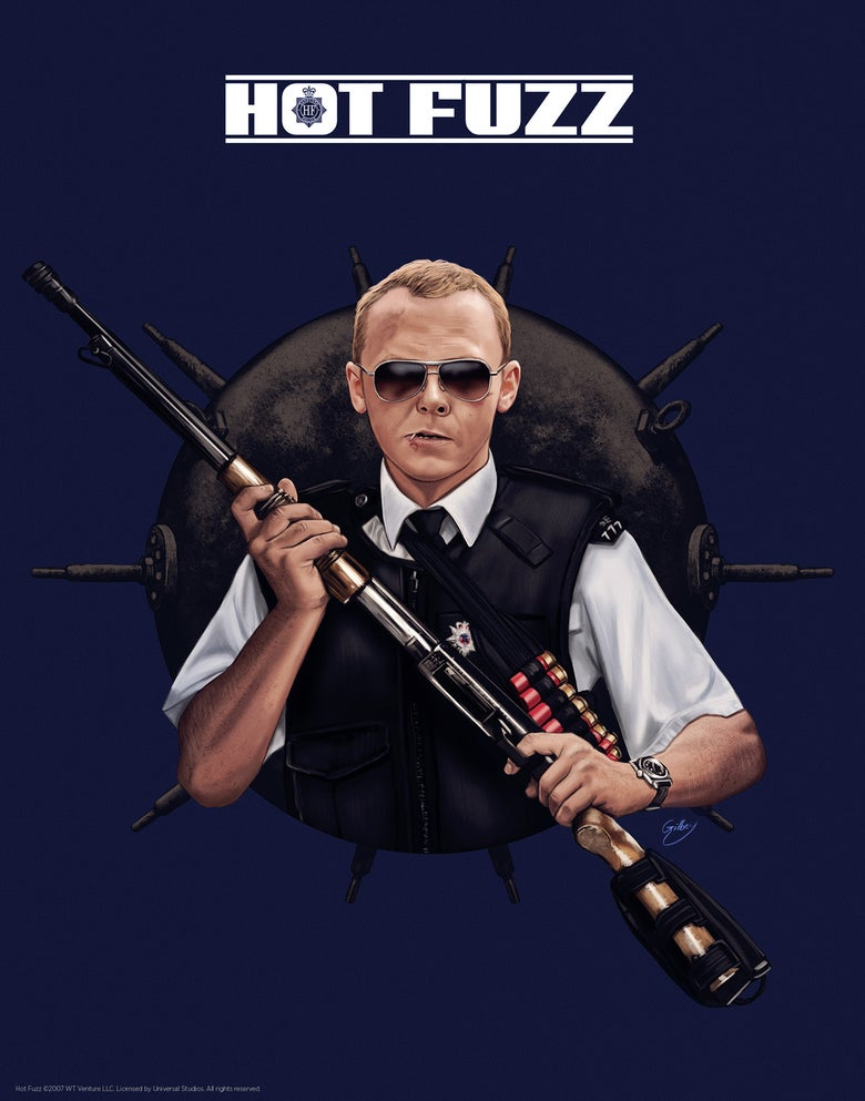 Image of Simon Pegg/Hot Fuzz (officially licensed print)