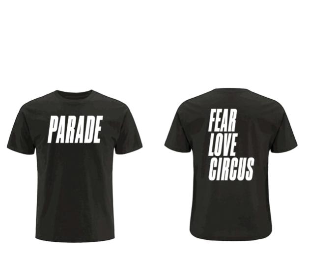Image of PARADE  |  FEAR LOVE CIRCUS  | MENS  T-SHIRT