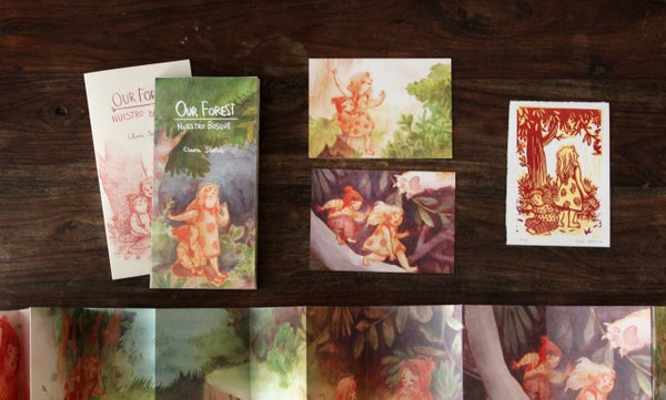 Image of 10%disc.: OUR FOREST book + small original print + two postcards