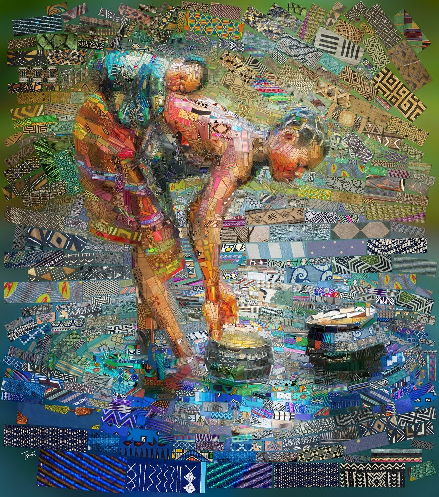 """Image of THE AFRICAN BRICKS  """"Working mother and child"""" (Limited edition fine art prints)"""