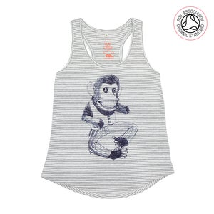 Image of Broken Monkey Girls Melange Striped Racerback Tank (Organic)