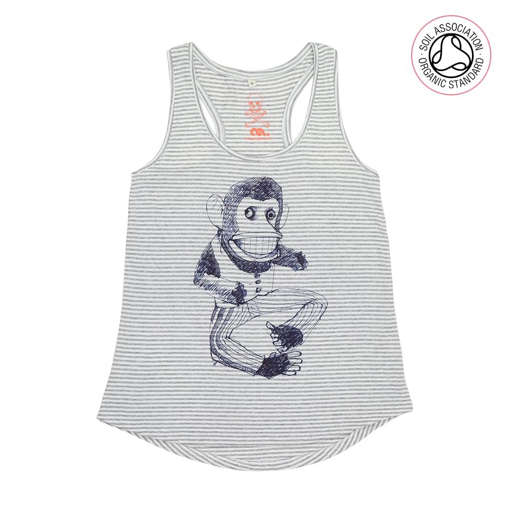 Broken Monkey Girls Melange Striped Racerback Tank (Organic)
