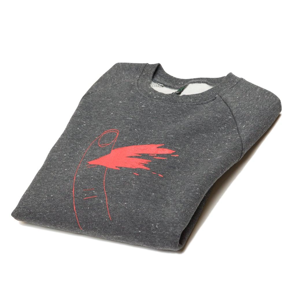 Paper Cut Black Twist Sweatshirt (Organic)