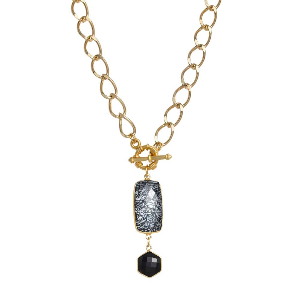 Image of NIGHTFALL TOGGLE NECKLACE