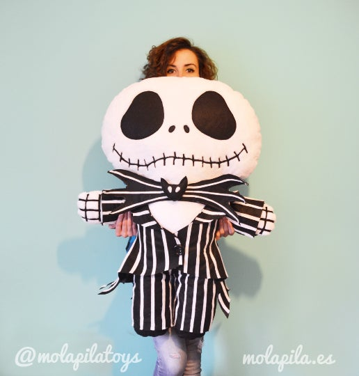Image of Big Jack Skellington. Plush toy.