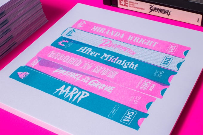 Image of Real Fake Tapes Print