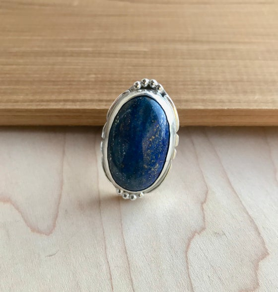 Image of Olivia - Sterling Silver & Lapis Lazuli Ring