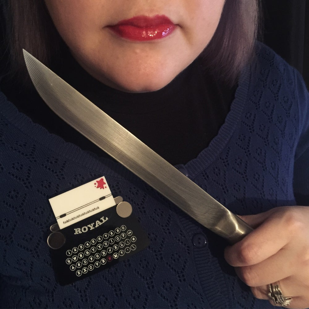 Image of The Miserable Typewriter Brooch