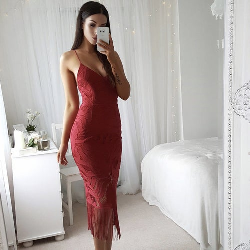 Image of Laurianne Dress Red