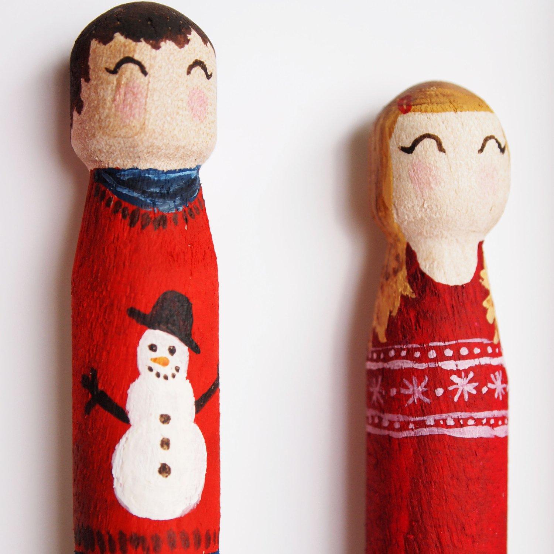 Image of Christmas Peg Portrait