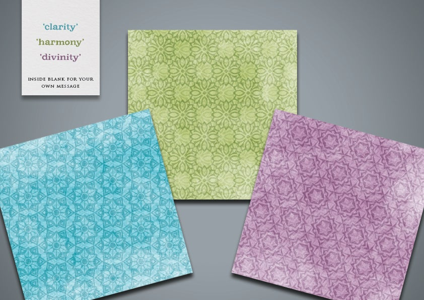 Image of Geometric Greetings Cards (pack)