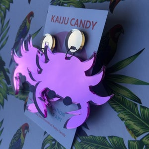 Image of Attack Of The Crab Monster Earrings (THREE COLOURS!)