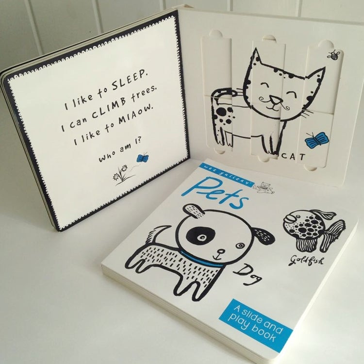Image of Wee Gallery Slide & Play Book Pets
