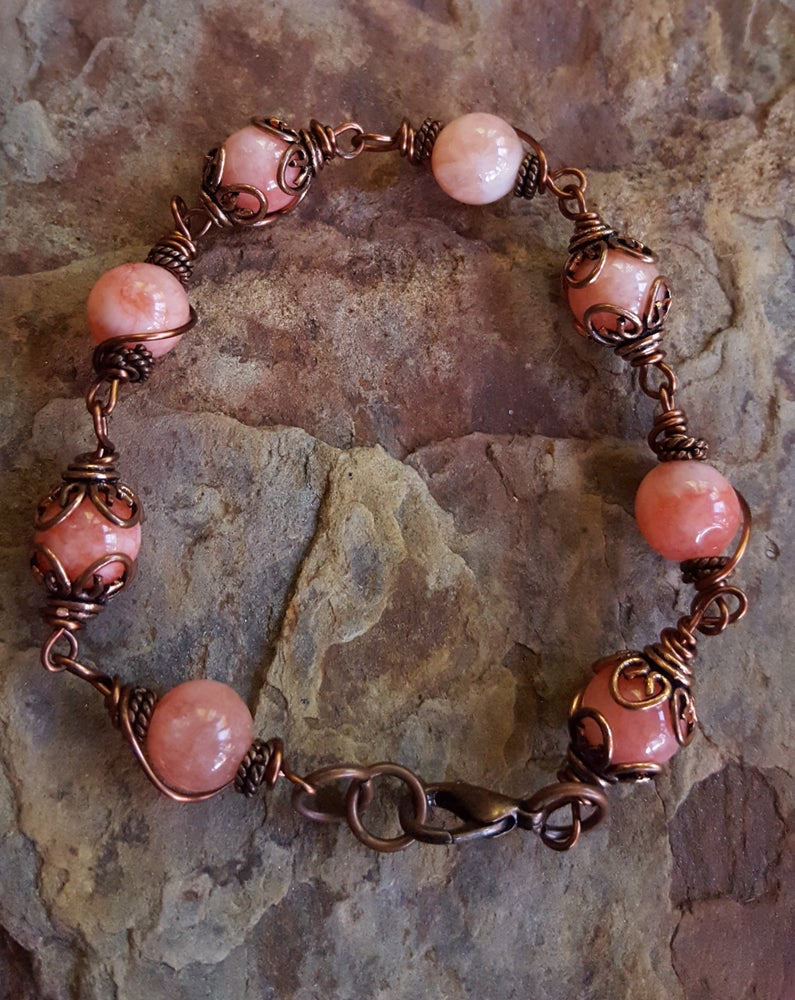 Image of  Jade & Copper Bracelet