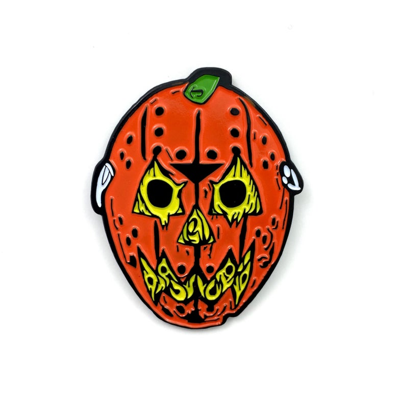 Image of Pumpkin Voorhees (Enamel Pin)