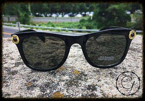 Image of Winchester 9mm Black Unisex Sunglasses w/ Black Crystal