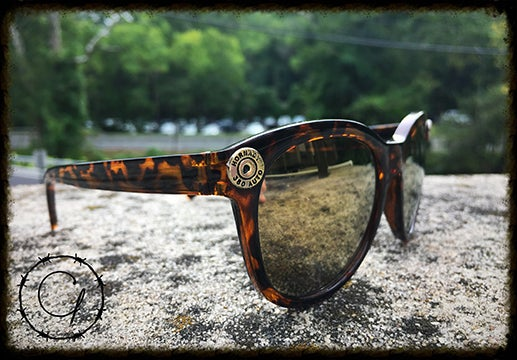Image of Hornady .380 Tortoise Style Ladies Sunglasses w/ Gold Mirrored Lenses