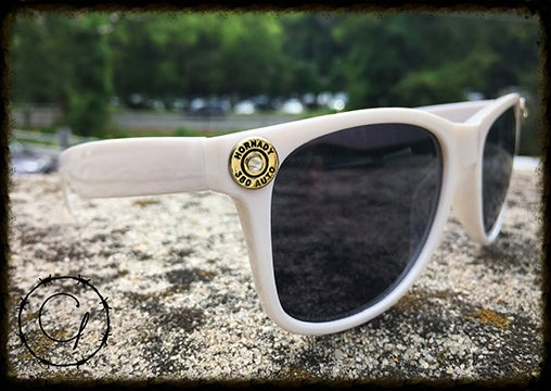 Image of Hornady .380 White Unisex Sunglasses w/ White Crystals