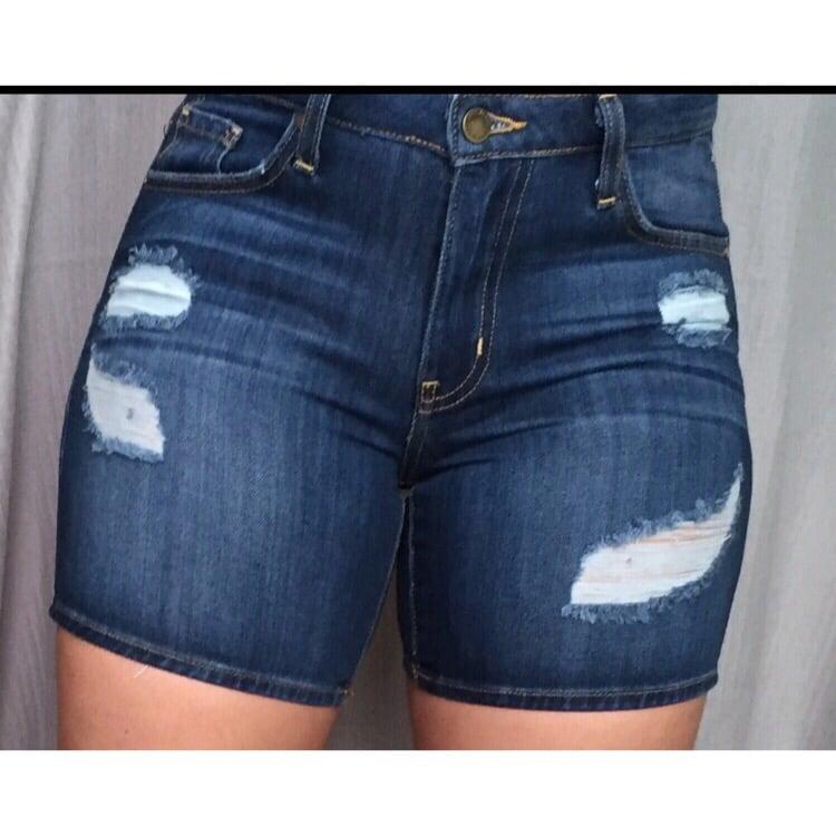 Image of Daisy Distressed Denim Shorts