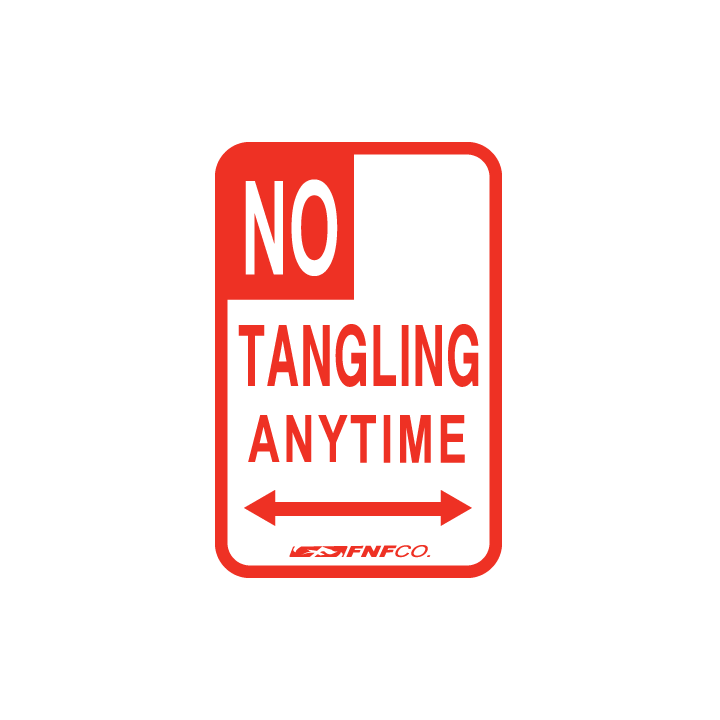 Image of NO TANGLING ANYTIME DECAL (2 EACH)