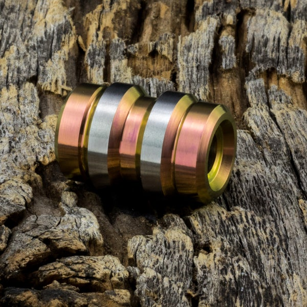 Image of Keg Rose Gold Ti Bead #1