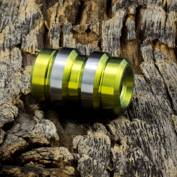 Image of Keg Yellow Ti Bead #1