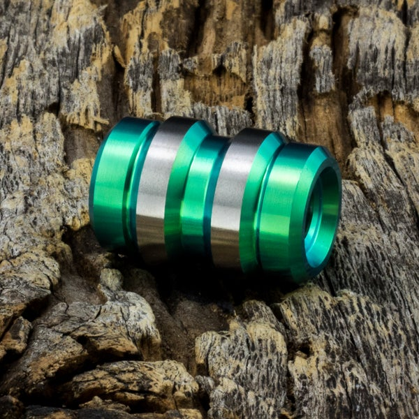 Image of Keg Green Ti Bead #1