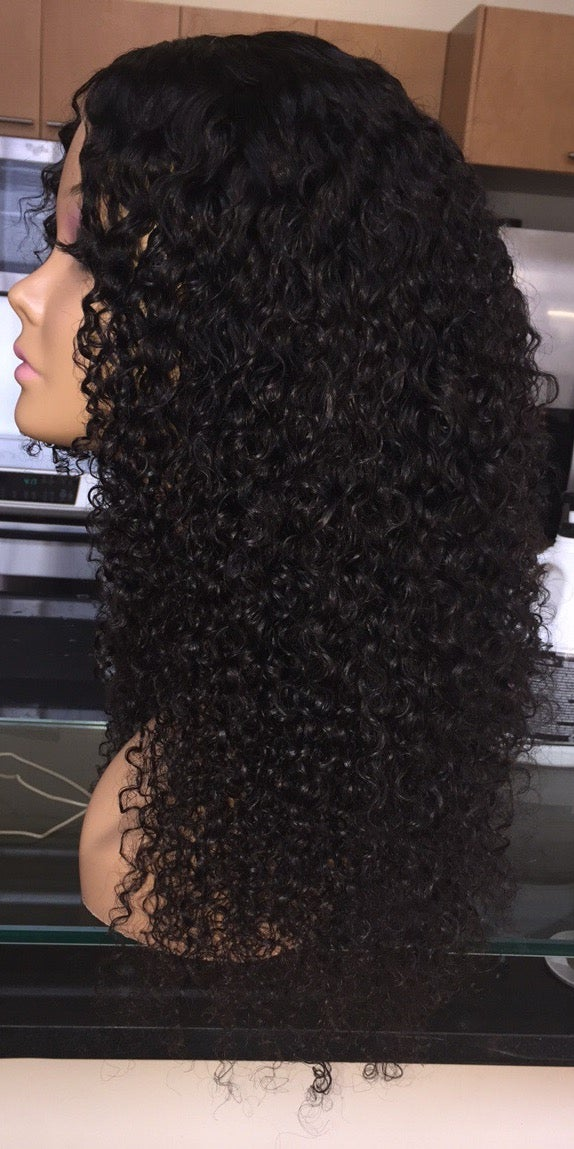 "Image of Indian Curly 22"" Custom Lace Closure Wig!"