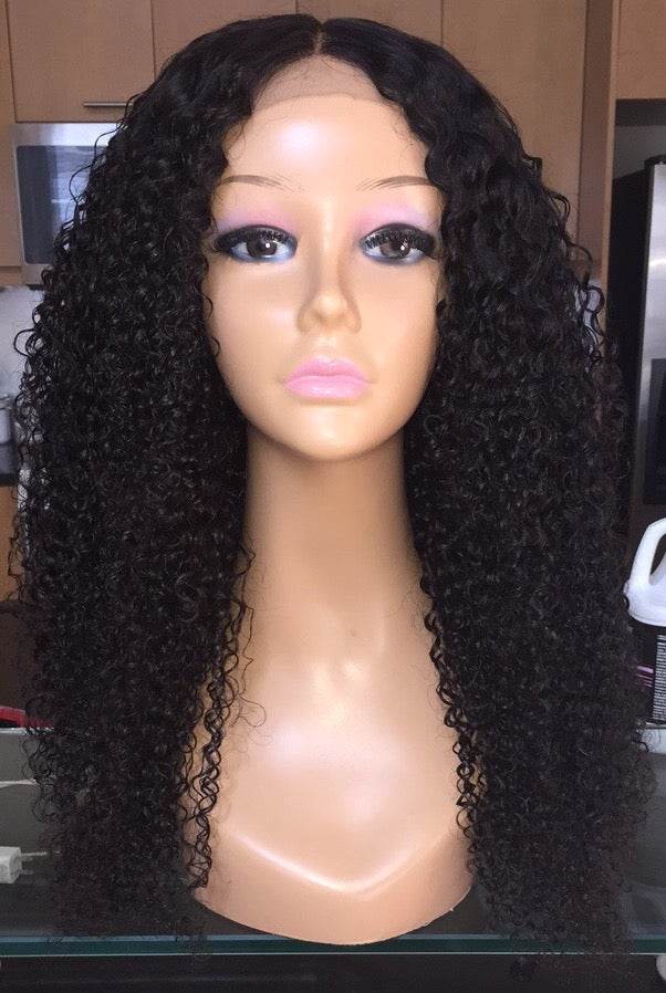 """Image of Indian Curly 22"""" Custom Lace Closure Wig!"""