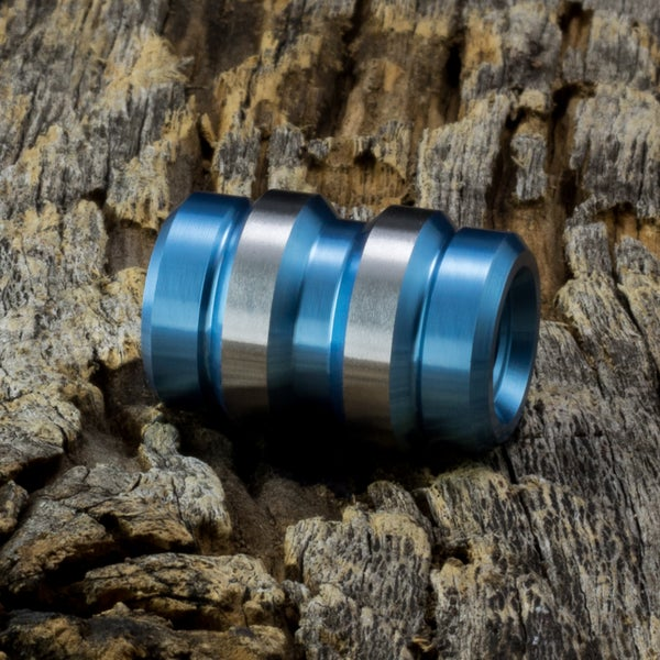 Image of Keg Light Blue Ti Bead #1