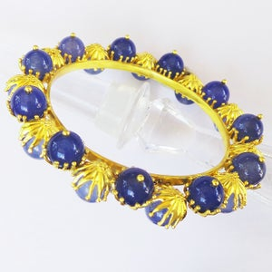 Image of Gemstone bead bangle