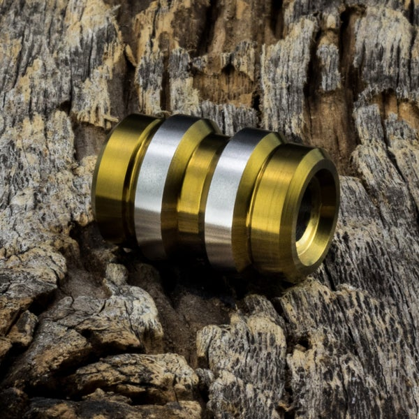 Image of Keg Bronze Ti Bead #1