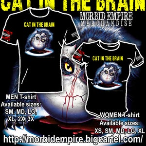 Image of CAT IN THE BRAIN (1990) T-shirt